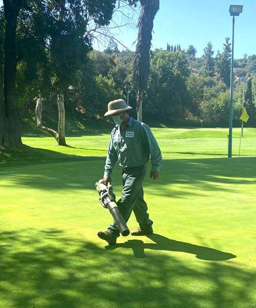 EGO Leaf Blower on Golf Course